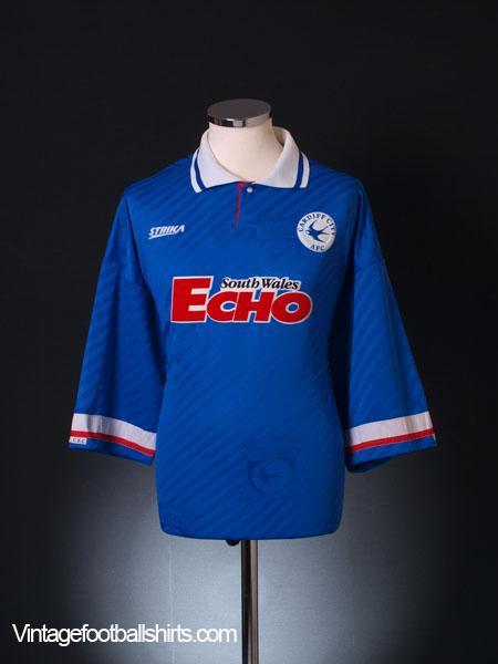 1994-95 Cardiff Home Shirt *Mint* XL