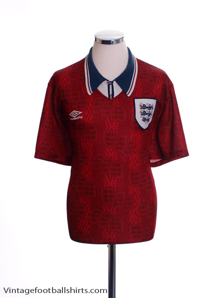 1994-95 England Away Shirt L