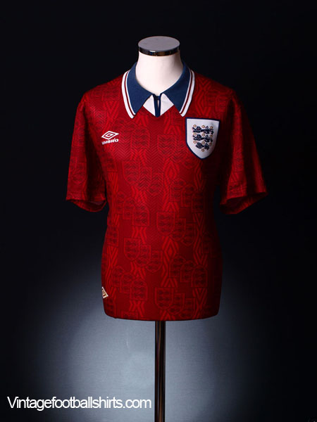 1994-95 England Away Shirt XXL
