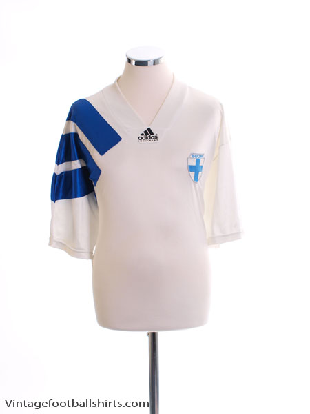 1994-95 Finland Match Issue Home Shirt #15 XL