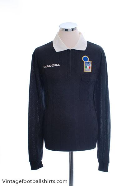 1994-95 Italy FIGC Referee Shirt L/S L