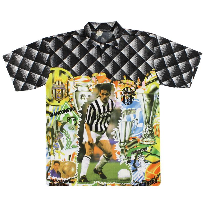 1994-95 Juventus Graphic Shirt Baggio #10 XL
