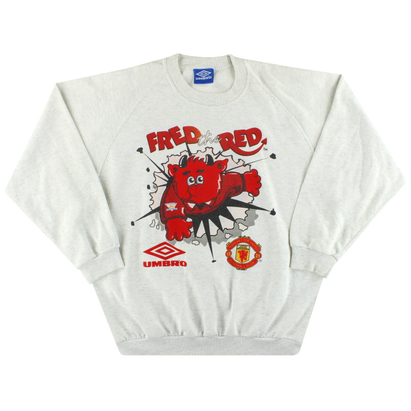 1994-95 Manchester United Umbro 'Fred The Red' Sweatshirt XL