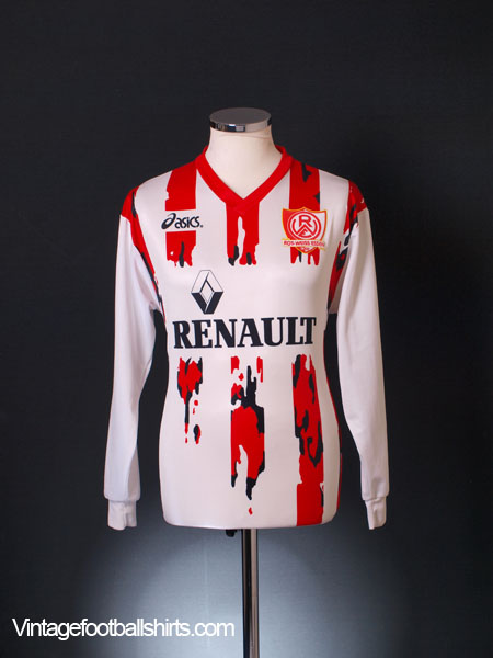 1994 95 rot weiss essen home shirt l s xs for sale. Black Bedroom Furniture Sets. Home Design Ideas