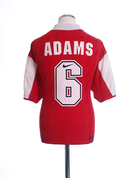 1994-96 Arsenal Home Shirt Adams #6 XL