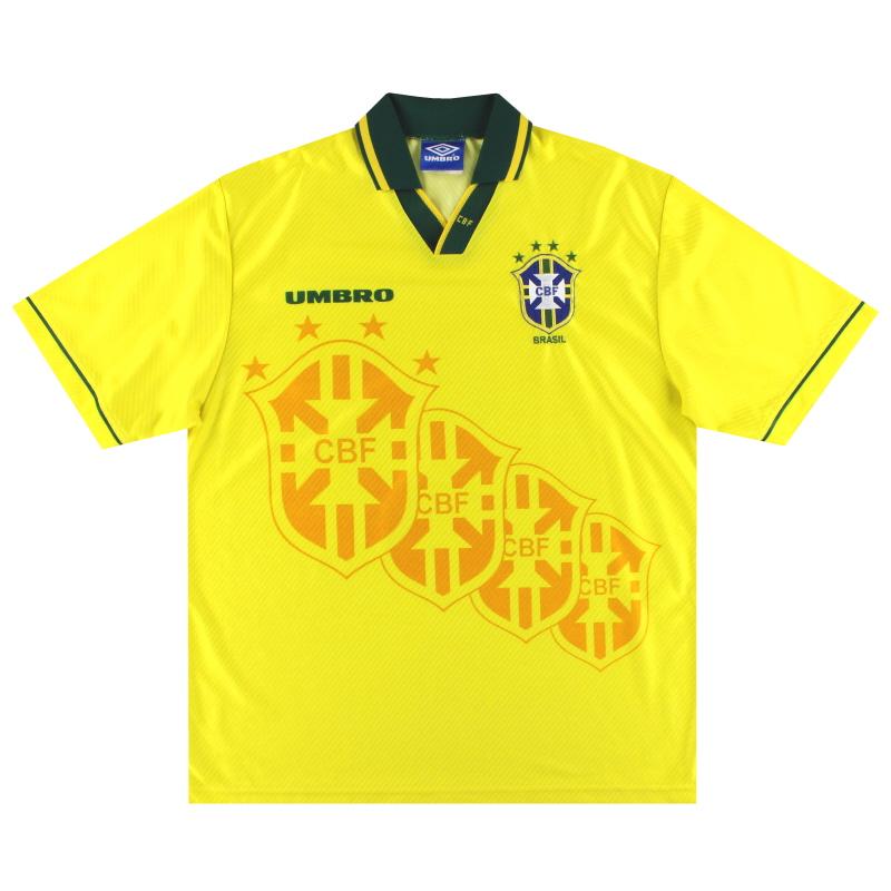 1994-96 Brazil Umbro Home Shirt XL