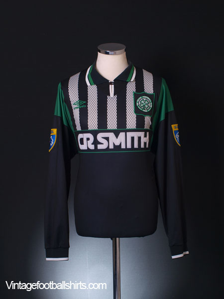 1994-96 Celtic Match Issue Away Shirt #9 (Hooijdonk) L/S XL