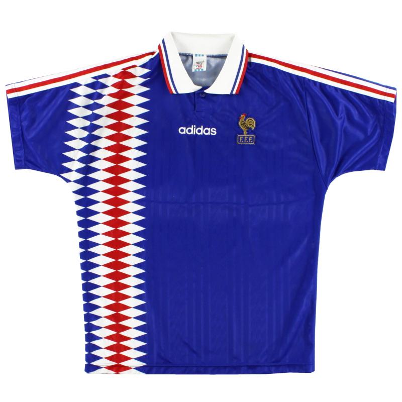 1994-96 France Home Shirt L/XL