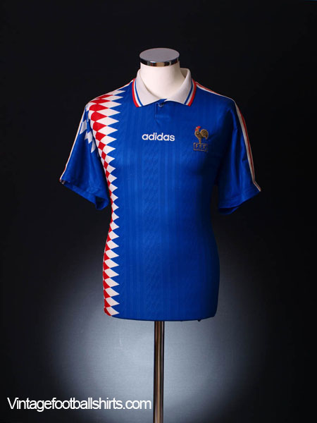 new style 14cbd a0d66 1994-96 France Home Shirt XL for sale