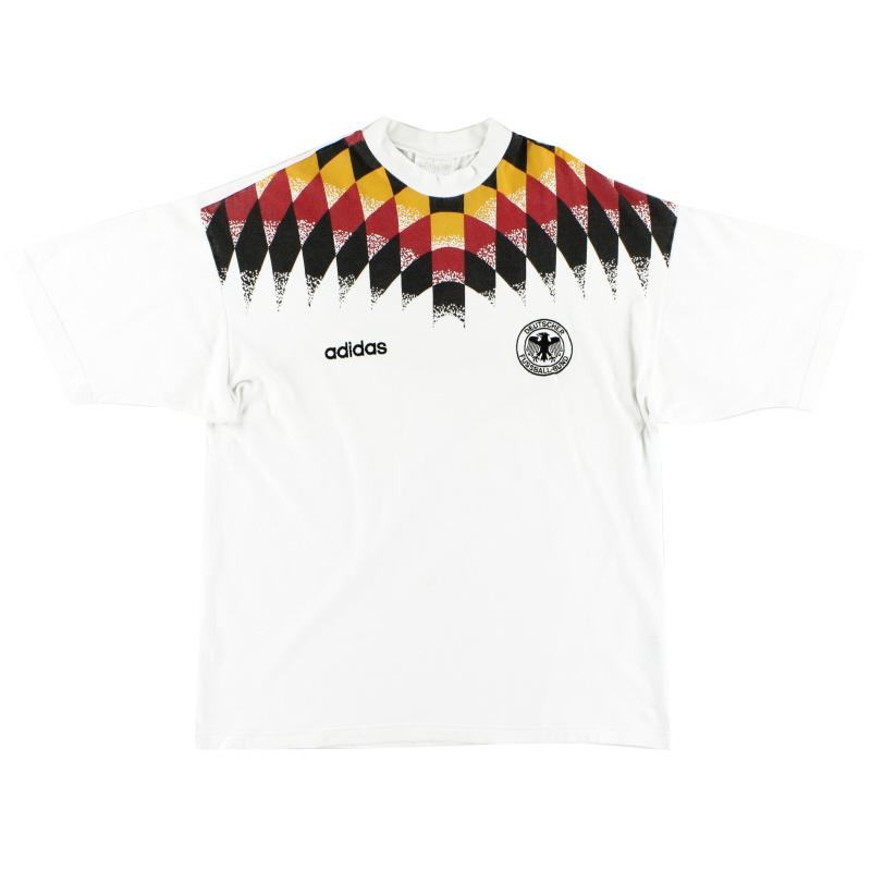 1994-96 Germany adidas Cotton Tee Shirt XL
