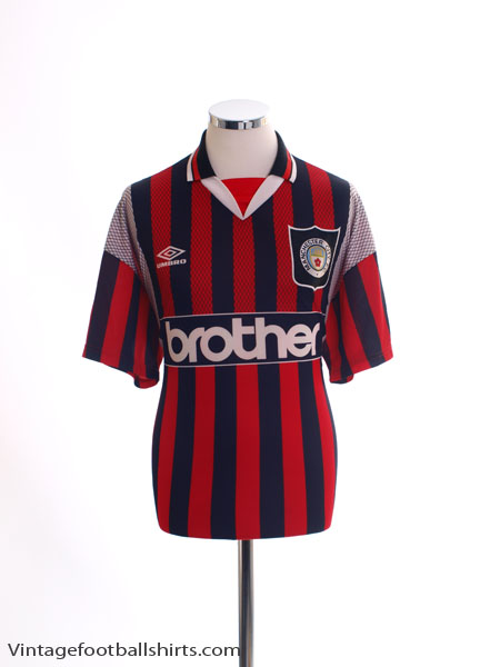 1994-96 Manchester City Away Shirt L