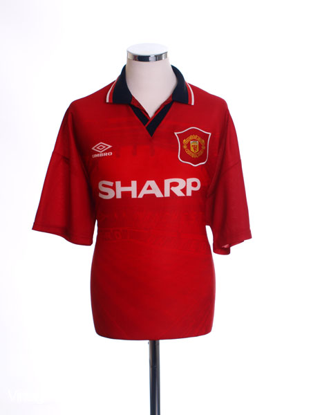 1994-96 Manchester United Home Shirt L