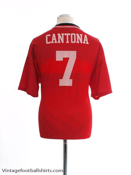1994-96 Manchester United Home Shirt Cantona #7 L