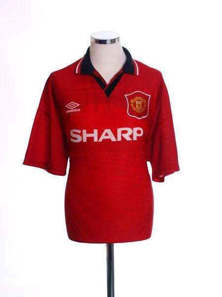 1994-96 Manchester United Home Shirt *Mint* L