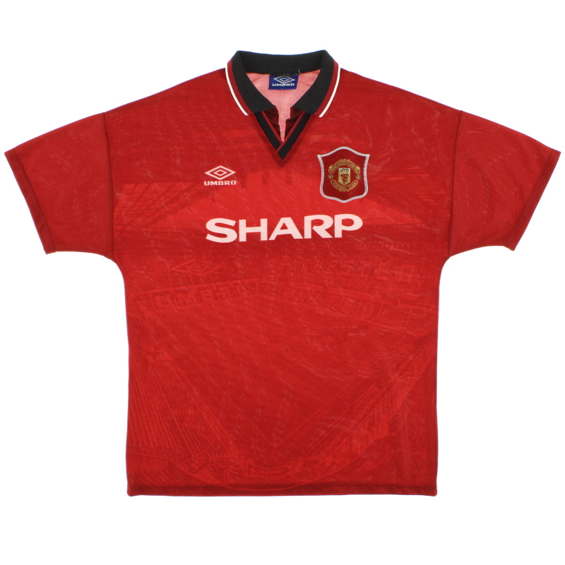 1994-96 Manchester United Home Shirt *Mint* L - 734315