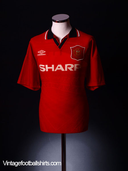 new arrival 5ed05 6d339 1994-96 Manchester United Home Shirt Cole #17 XL for sale