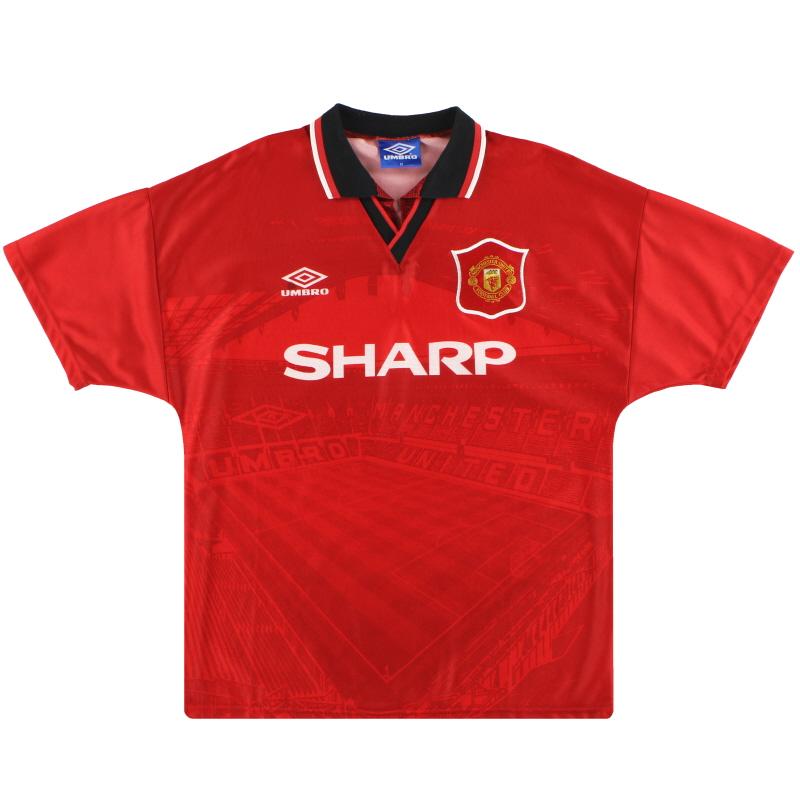 1994-96 Manchester United Umbro Home Shirt *Mint* M - 734315