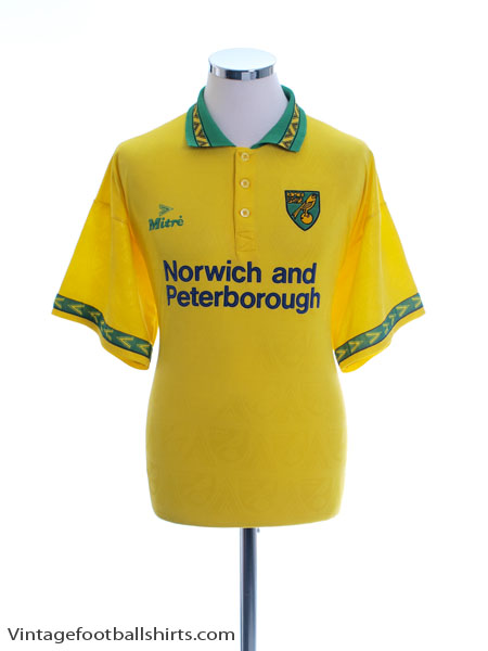 1994-96 Norwich City Home Shirt L