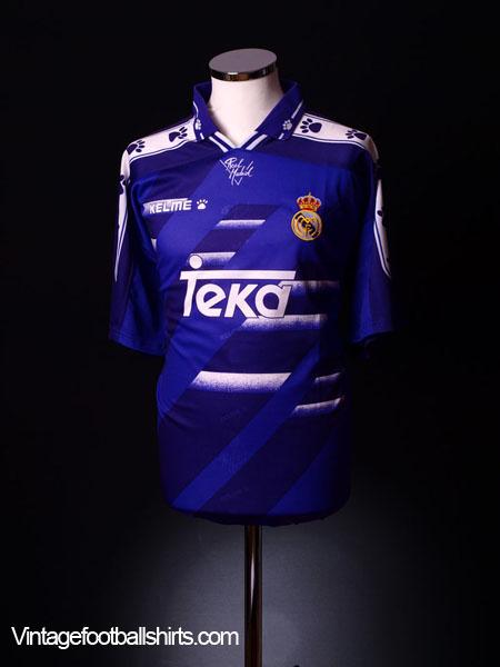 1994-96 Real Madrid Away Shirt L