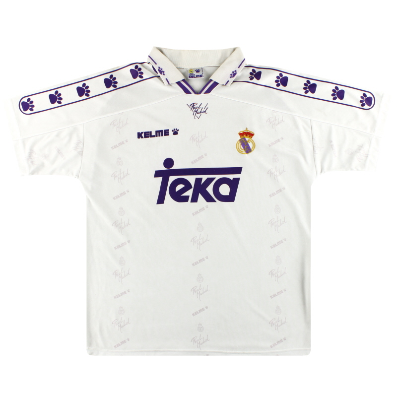 1994-96 Real Madrid Kelme Home Shirt L