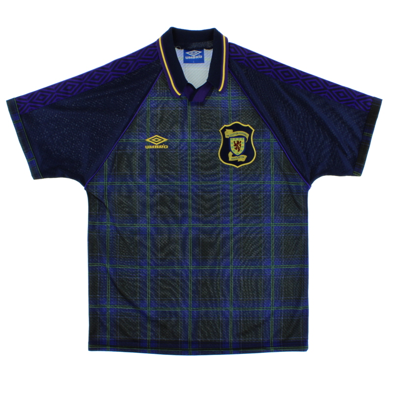 1994-96 Scotland Home Shirt L