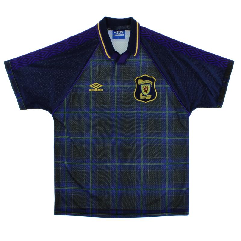 1994-96 Scotland Home Shirt M