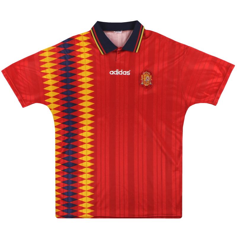 1994-96 Spain adidas Home Shirt L - 065588