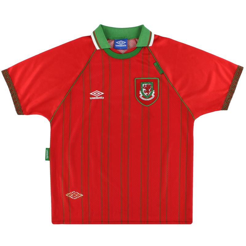 1994-96 Wales Umbro Home Shirt L