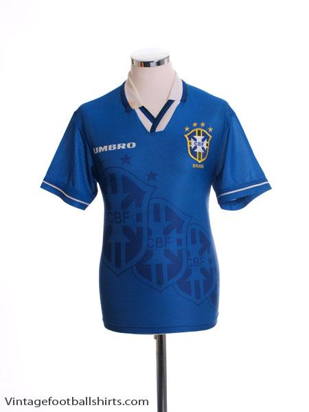 1994-97 Brazil Away Shirt *Mint* XL