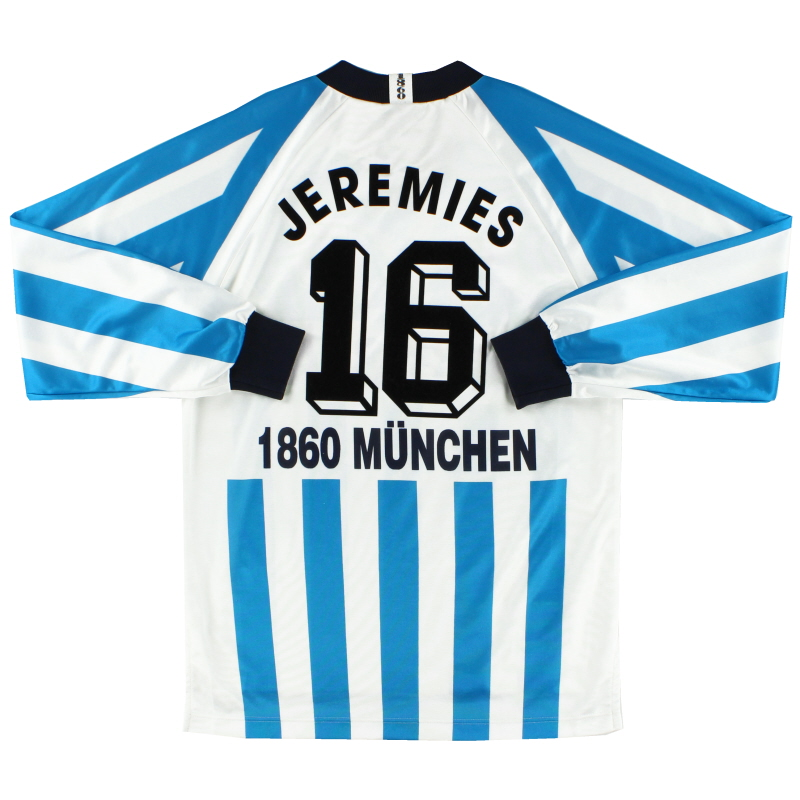 1995-96 1860 Munich Home Shirt Jeremies #16 L/S S