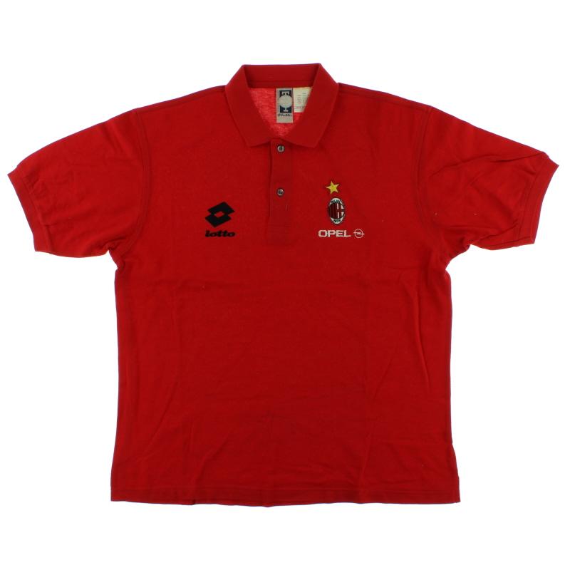 1995-96 AC Milan Lotto Polo Shirt XL