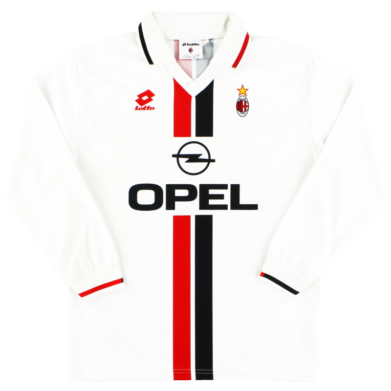 1995-96 AC Milan Lotto Away Shirt L/S L