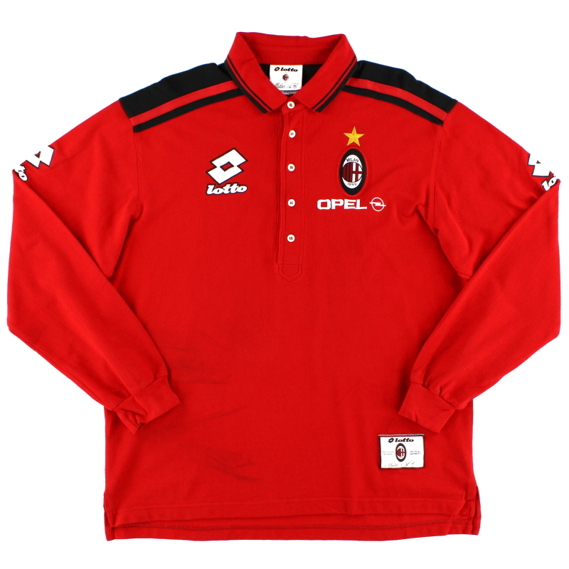 1995-96 AC Milan Lotto Polo Shirt XXL