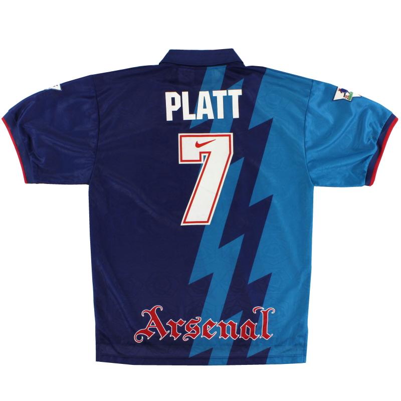 1995-96 Arsenal Nike Away Shirt Platt #7 XL - 159203