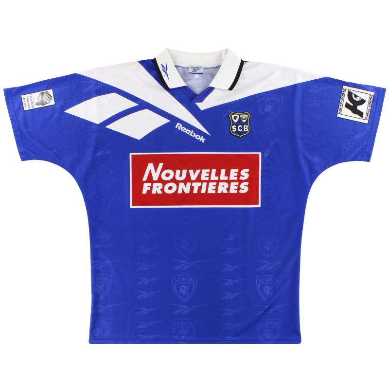 1995-96 Bastia Reebok Home Shirt *Mint* XL