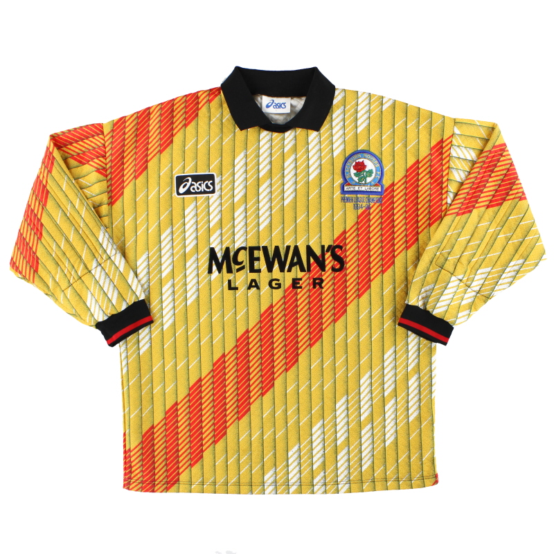 1995-96 Blackburn Asics 'Champions' Goalkeeper Shirt L