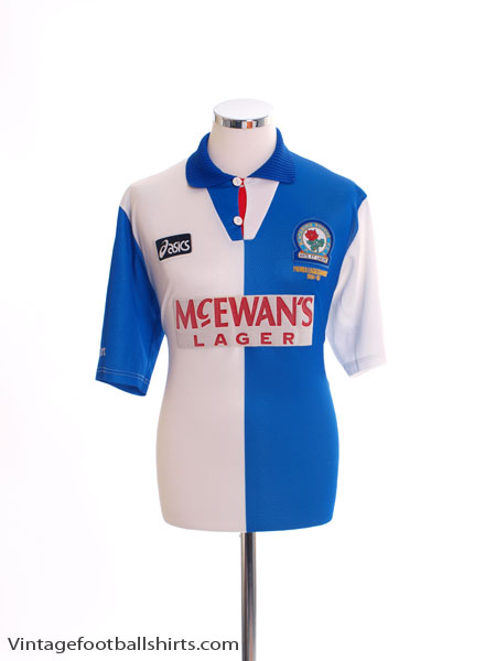 1995-96 Blackburn 'Champions' Home Shirt *Mint* XL