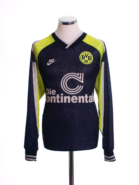 1995-96 Borussia Dortmund Away Shirt L/S L.Boys