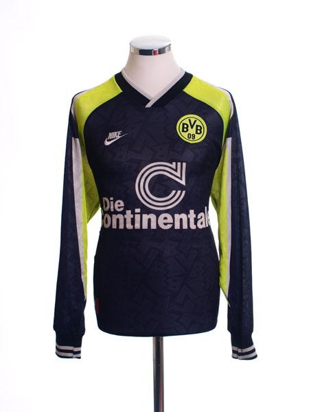 1995-96 Borussia Dortmund 'Deutscher Meister' Away Shirt L/S M