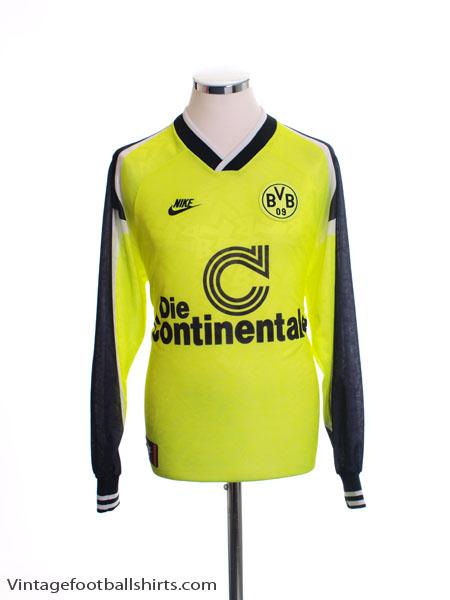 1995-96 Borussia Dortmund Home Shirt L/S S