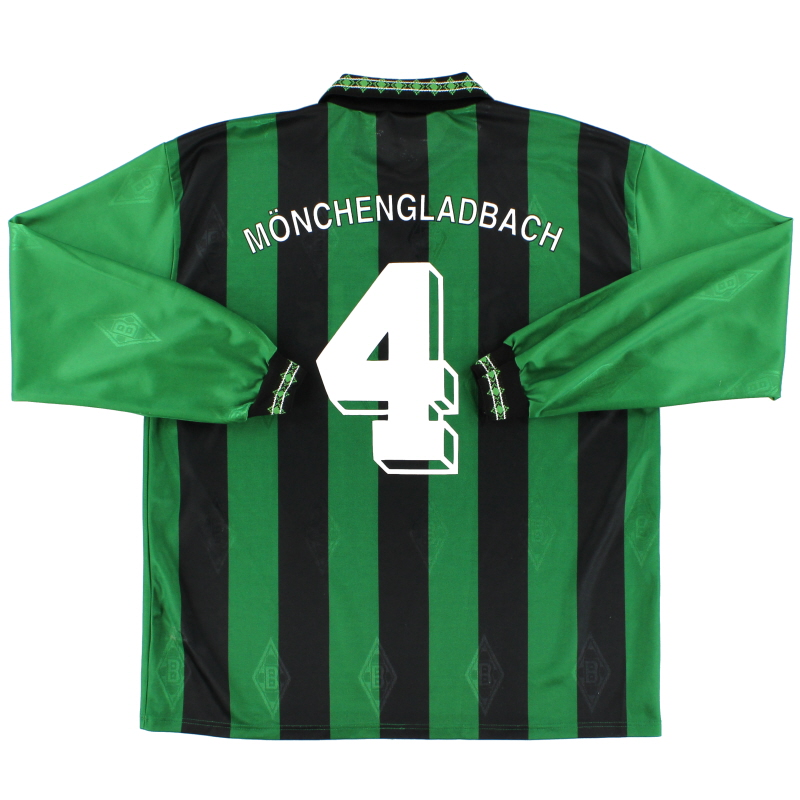 1995-96 Borussia Monchengladbach Away Shirt #4 L/S XL
