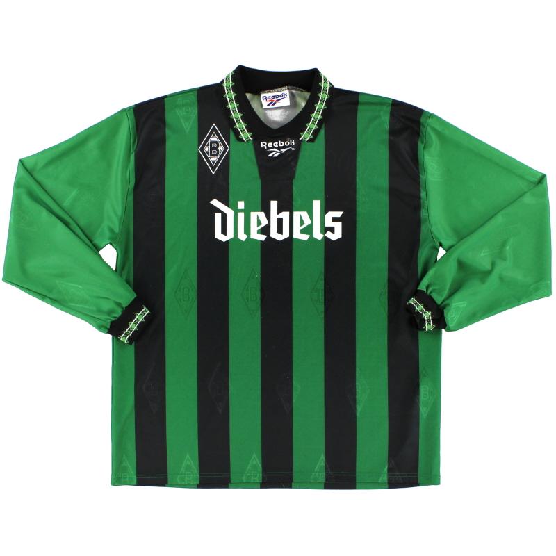 1995-96 Borussia Monchengladbach Away Shirt L/S *Mint* XL