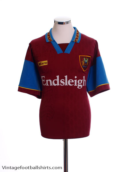 1995-96 Burnley Home Shirt M