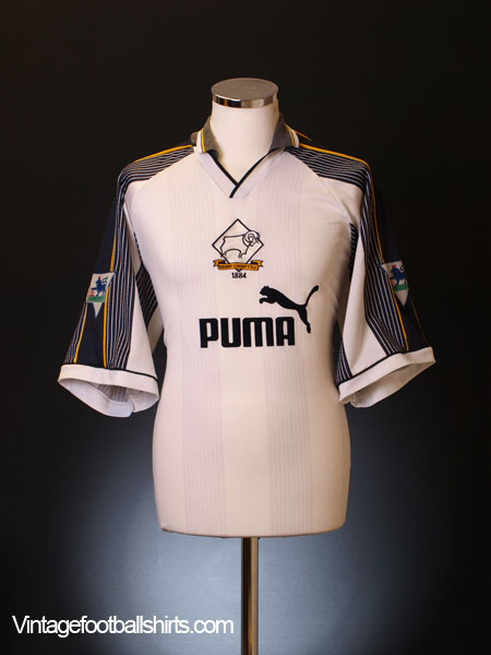 1995-96 Derby County Match Issue Home Reserves Shirt #12 XL