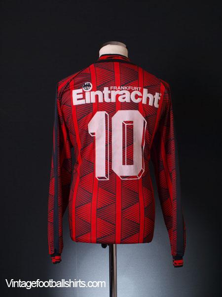 1995-96 Eintracht Frankfurt Home Shirt #10 L/S L