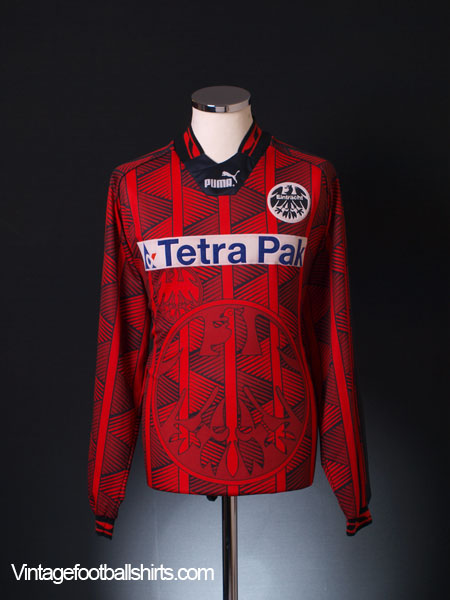 1995 96 eintracht frankfurt home shirt 10 l s l for sale. Black Bedroom Furniture Sets. Home Design Ideas