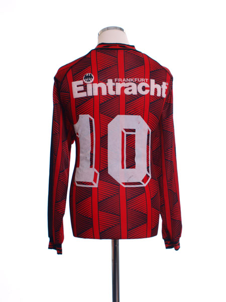 1995 96 eintracht frankfurt home shirt 10 l s m for sale. Black Bedroom Furniture Sets. Home Design Ideas