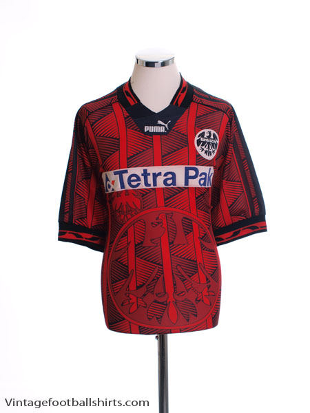 1995 96 eintracht frankfurt home shirt xl for sale. Black Bedroom Furniture Sets. Home Design Ideas