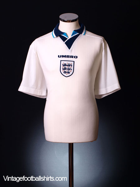 1995-96 England Home Shirt L