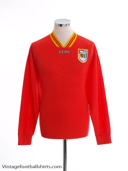 1995-96 F91 Dudelange Match Issue Home Shirt #15 L/S L